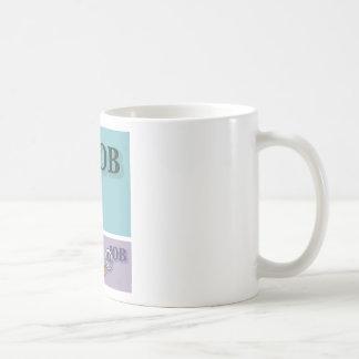 Búsqueda de trabajo bajo illustrat del vector de taza clásica