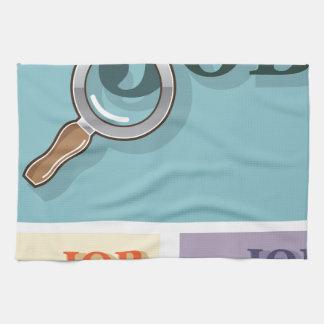 Búsqueda de trabajo bajo illustrat del vector de toallas