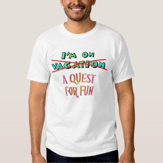 Búsqueda para la diversión camisetas