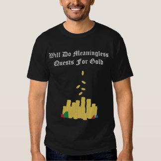 Búsquedas sin setido para el oro camiseta