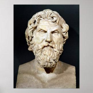 Busto de Antisthenes Póster