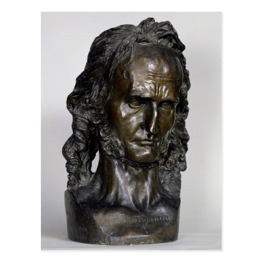 Busto de Nicolo Paganini 1830 Postal