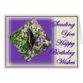 ButterflyBdayWishes-personalizar Tarjeta De Felicitación