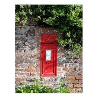 Buzón británico de la pared postal