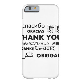 BW le agradece Funda De iPhone 6 Barely There