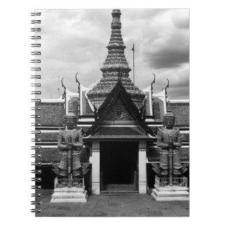 BW Tailandia Bangkok Wat Phra Kaeo 1970 embarazada Libros De Apuntes