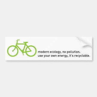 Bycicle: Ecología moderna Pegatina Para Coche