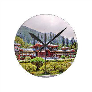 Byodo-En el templo Oahu Reloj Redondo Mediano
