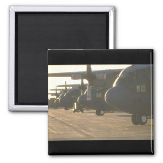 C-130 Hércules en los aviones ramp_Military Imanes