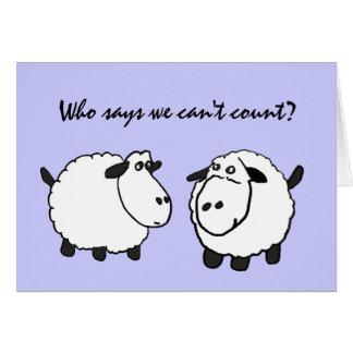 C.C. 50.a tarjeta de cumpleaños de las ovejas