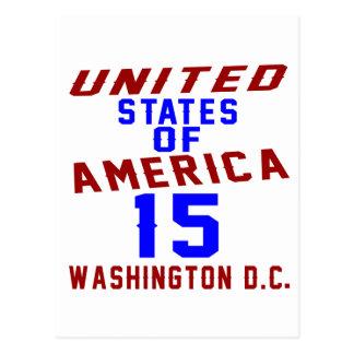 C.C. de los Estados Unidos de América 15 Postal