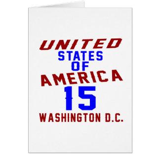 C.C. de los Estados Unidos de América 15 Tarjeta De Felicitación