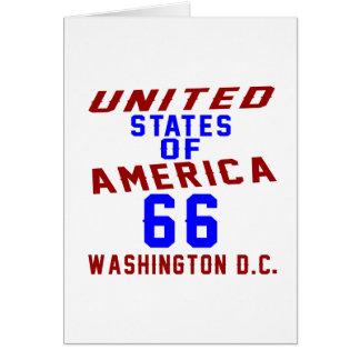 C.C. de los Estados Unidos de América 66 Tarjeta De Felicitación