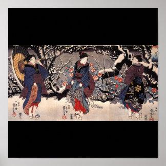 C. de pintura japonesa 1800's poster