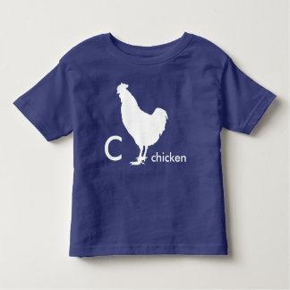 C está para el pollo camiseta de bebé
