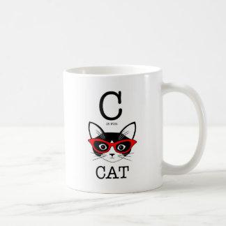 C está para la taza hermosa del gato