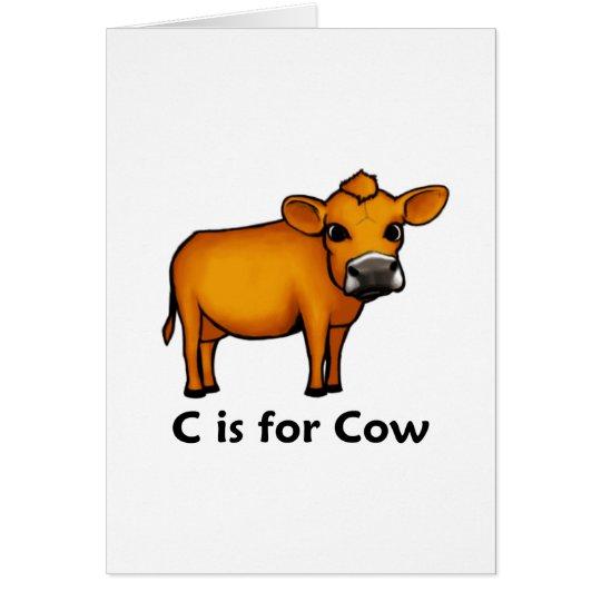 C está para la vaca tarjeta de felicitación
