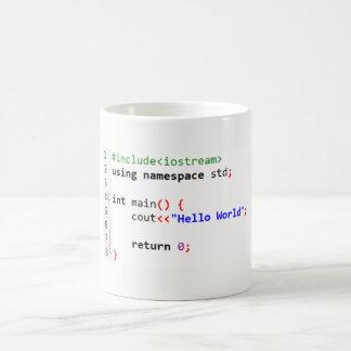 C++ Hola taza de café del mundo