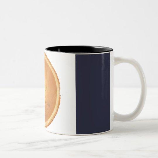 c no es una naranja taza de café de dos colores