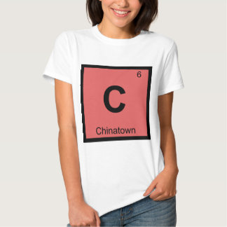 C - Símbolo de la química de Chinatown San Camiseta