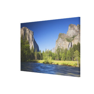 CA, Yosemite NP, opinión del valle con el EL Capit Impresión En Lona Estirada