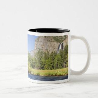 CA, Yosemite NP, opinión del valle con el EL Taza De Dos Tonos