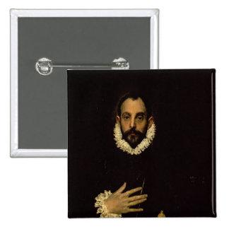 Caballero con su mano en su pecho, c.1580 pin