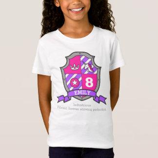 Caballero de la princesa del cumpleaños del camiseta