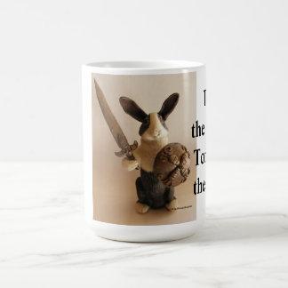 Caballero del conejito taza de café