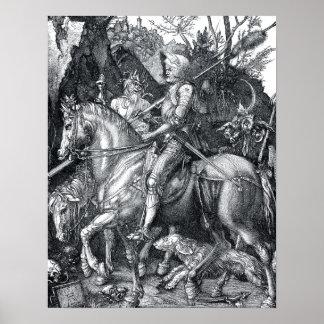 Caballero, muerte y el diablo - Albrecht Dürer Póster