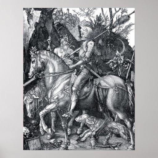 Caballero, muerte y el diablo - Albrecht Dürer Impresiones
