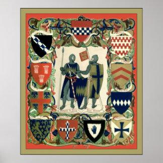 Caballeros del cruzado póster