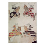 Caballeros Jousting, de Book de sir Thomas Holmes Poster