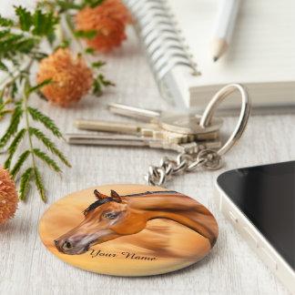 Caballo árabe personalizado llavero