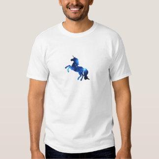Caballo azul del unicornio del espacio camiseta