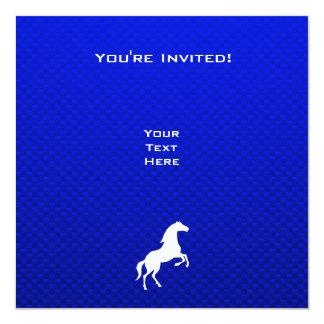 Caballo azul invitación 13,3 cm x 13,3cm