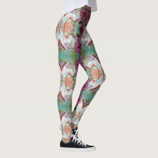 Caballo blanco y rosado leggings