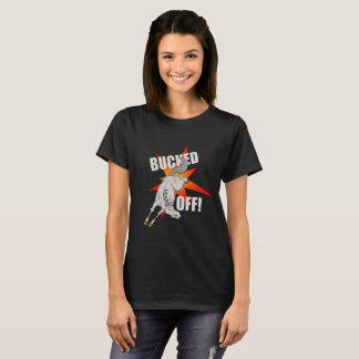 "Caballo ""Bucked apagado!"" camiseta del diseño"