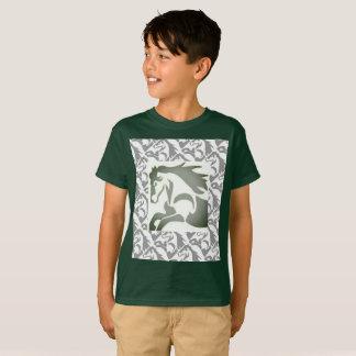Caballo con la frontera del sello camiseta