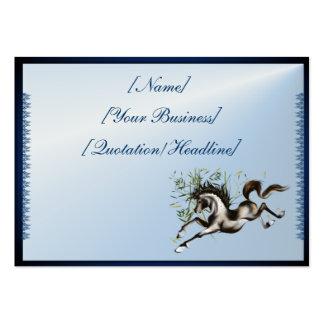 Caballo corriente profilecard_chubby_horizontal.,  tarjeta de visita