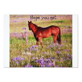 caballo cuarto invitación 12,7 x 17,8 cm