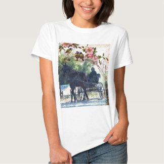 Caballo de Amish y textura con errores del Camiseta