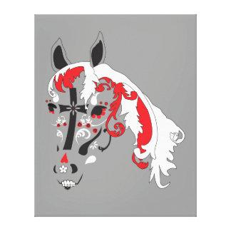 caballo de dia de los muertos impresiones en lona