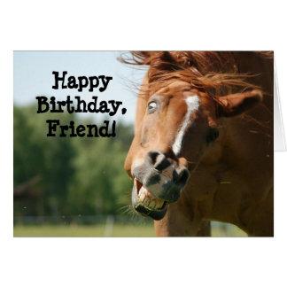 Caballo de Friend_Funny del feliz cumpleaños Tarjeta De Felicitación
