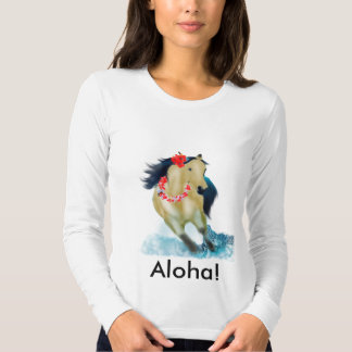 Caballo de la hawaiana camiseta