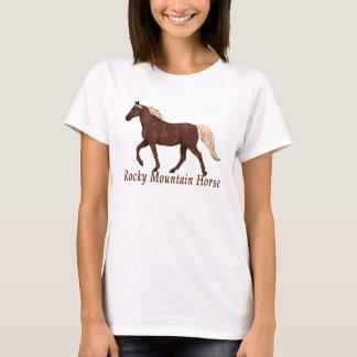 Caballo de lino Gaited de la montaña rocosa del Camiseta