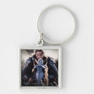 Caballo de montar a caballo de Aragorn Llavero Cuadrado Plateado