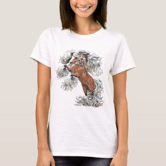 caballo de oro de la fantasía camiseta