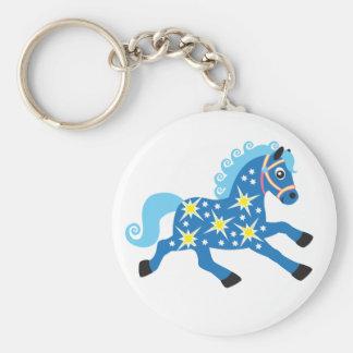 caballo decorativo llavero redondo tipo chapa