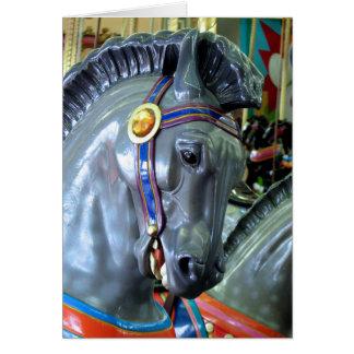 Caballo del carrusel de Santa Cruz Tarjeta De Felicitación